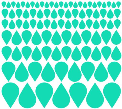 Preslikač Kapljice različni velikosti